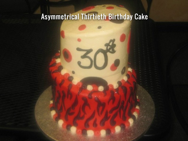 asymmetrical-thirtieth-birthday-cake