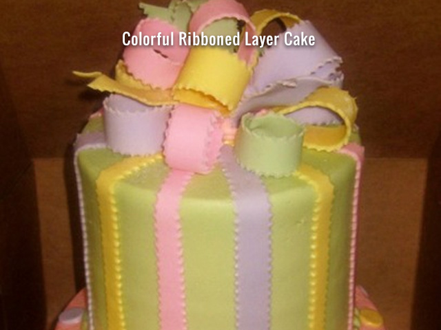 colorful-ribboned-layer-cake