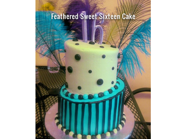 feathered-sweet-sixteen-cake