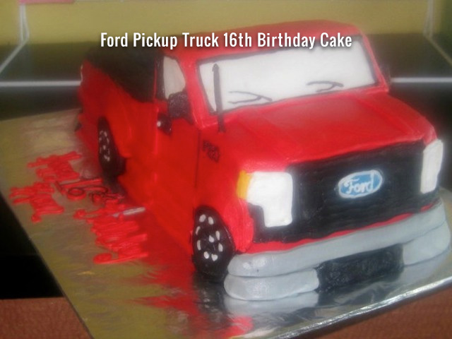 ford-pickup-truck-16th-birthday-cake