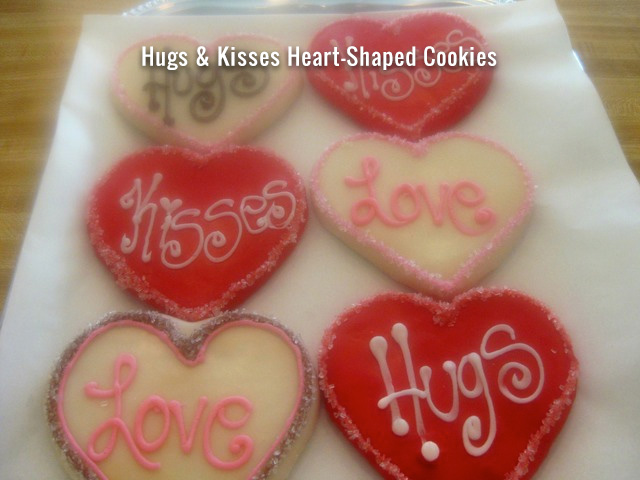 hugs-kisses-heart-shaped-cookies