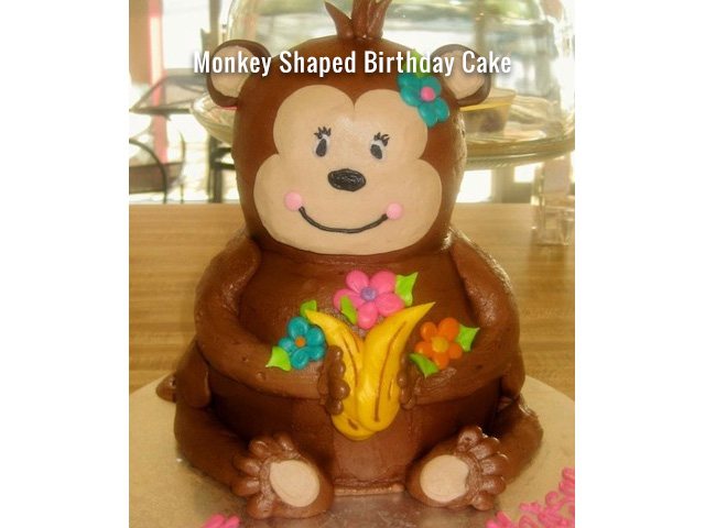 monkey-shaped-birthday-cake