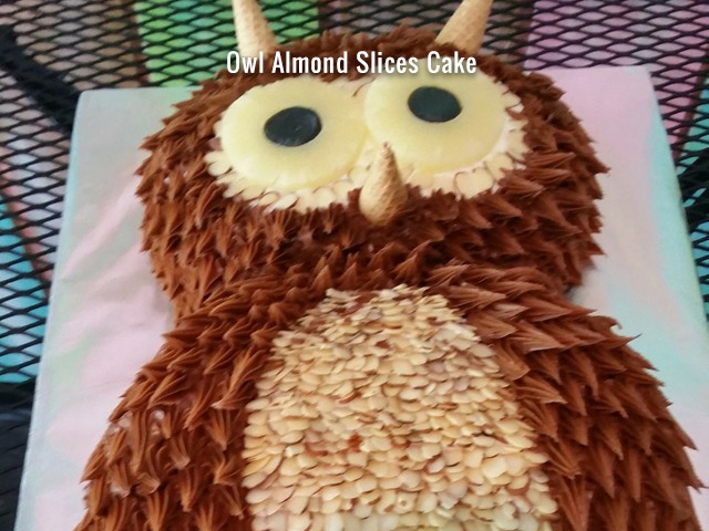 owl-almond-slices-cake