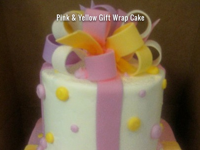 pink-yellow-gift-wrap-cake