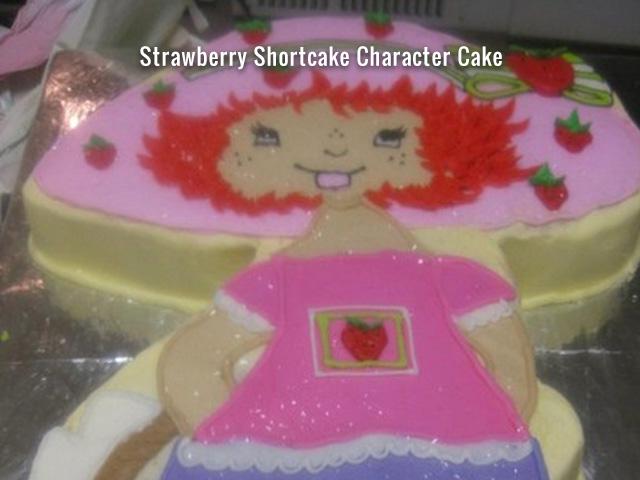 strawberry-shortcake-character-cake