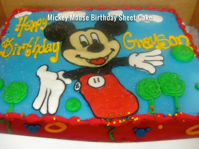 mickey mouse sheet cake delicious bakery alabaster birthday cake gallery 5887